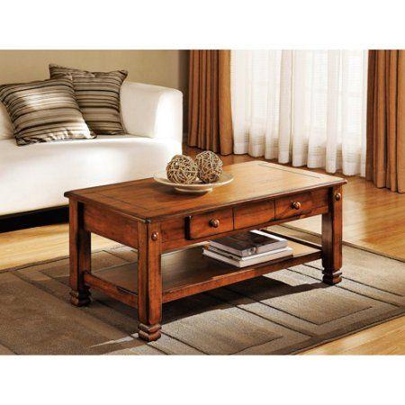 Summit Mountain Coffee Table Rustic Oak Living Room