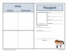 Delightful Free Passport To The World Inside Free Passport Template For Kids