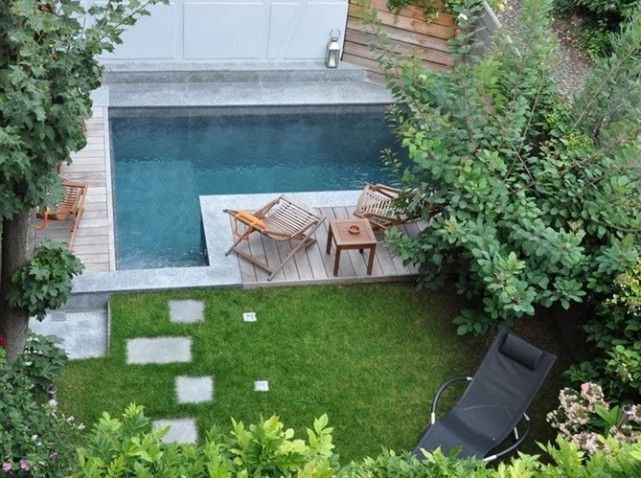 petite piscine citadine jardin outdoor beautiful. Black Bedroom Furniture Sets. Home Design Ideas