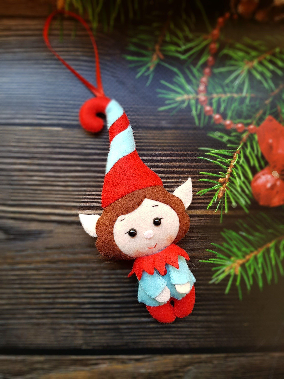 Christmas Elves Felt Gnome Ornament Felt Christmas Elf Etsy Felt Christmas Felt Ornaments Elf Christmas Decorations