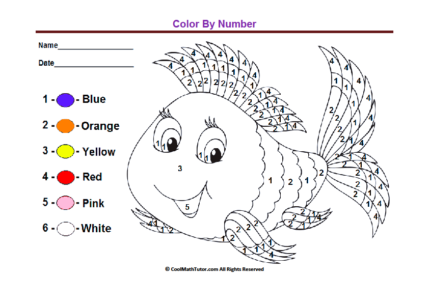 Kindergarten Coloring Pages, Kindergarten Colors, Color Worksheets For  Preschool