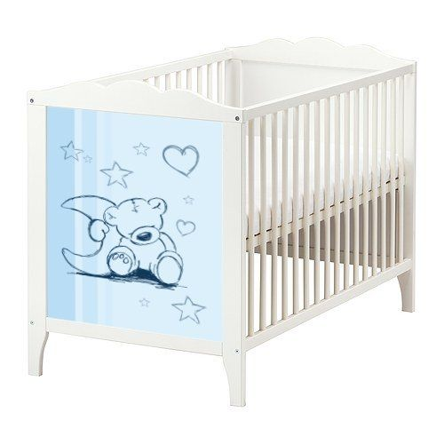 blue teddy sticker set for the baby bed ikea hensvik bb01 amazon