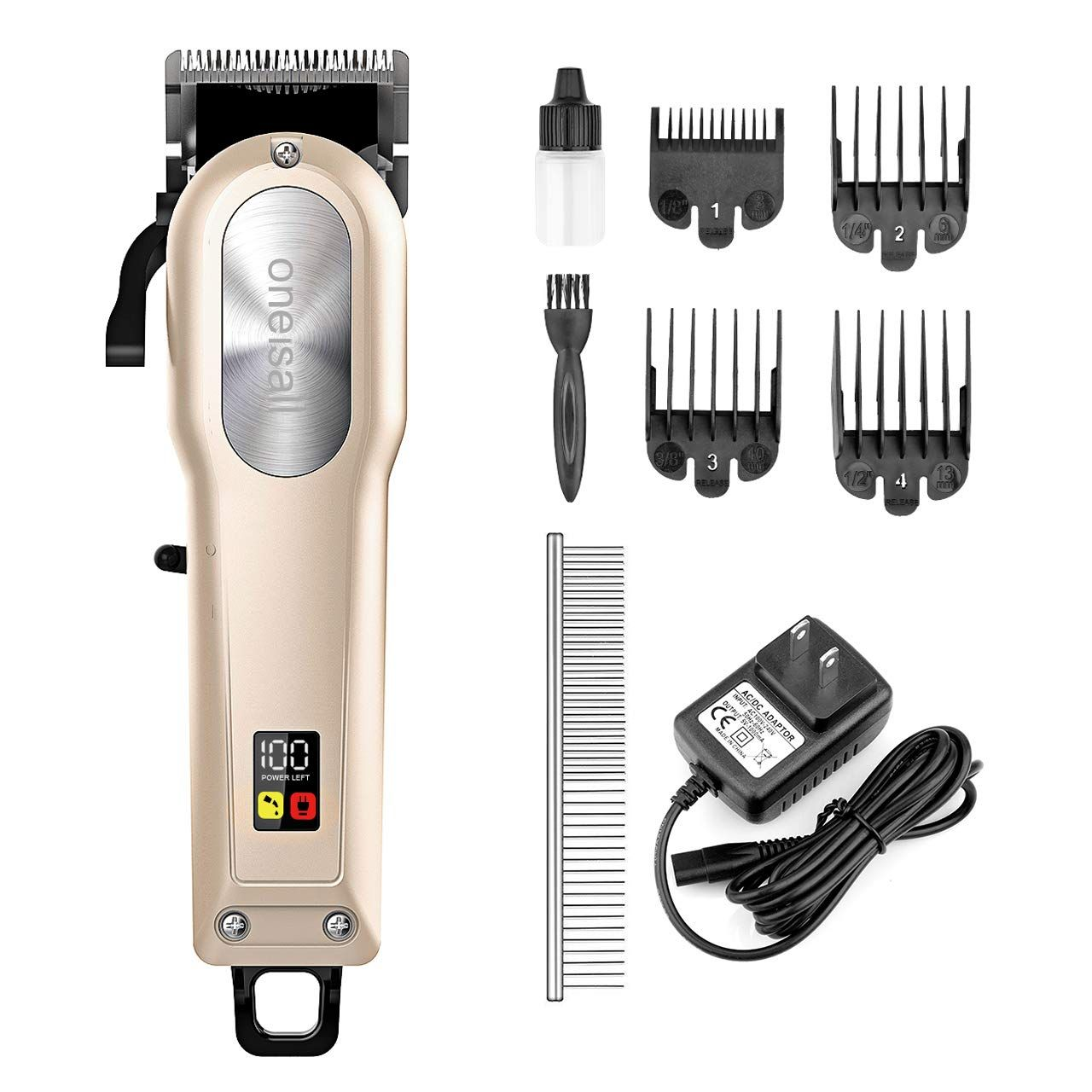 oneisall Dog Grooming Clippers,Professional Rechargeable