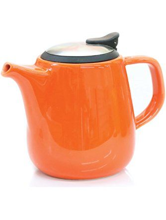 Daze Ceramic Teapot W Stainless Steel Lid Infuser 1 Best