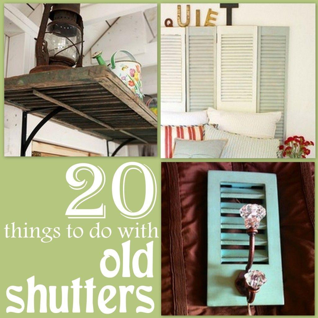 Shutters Repurposed Diy