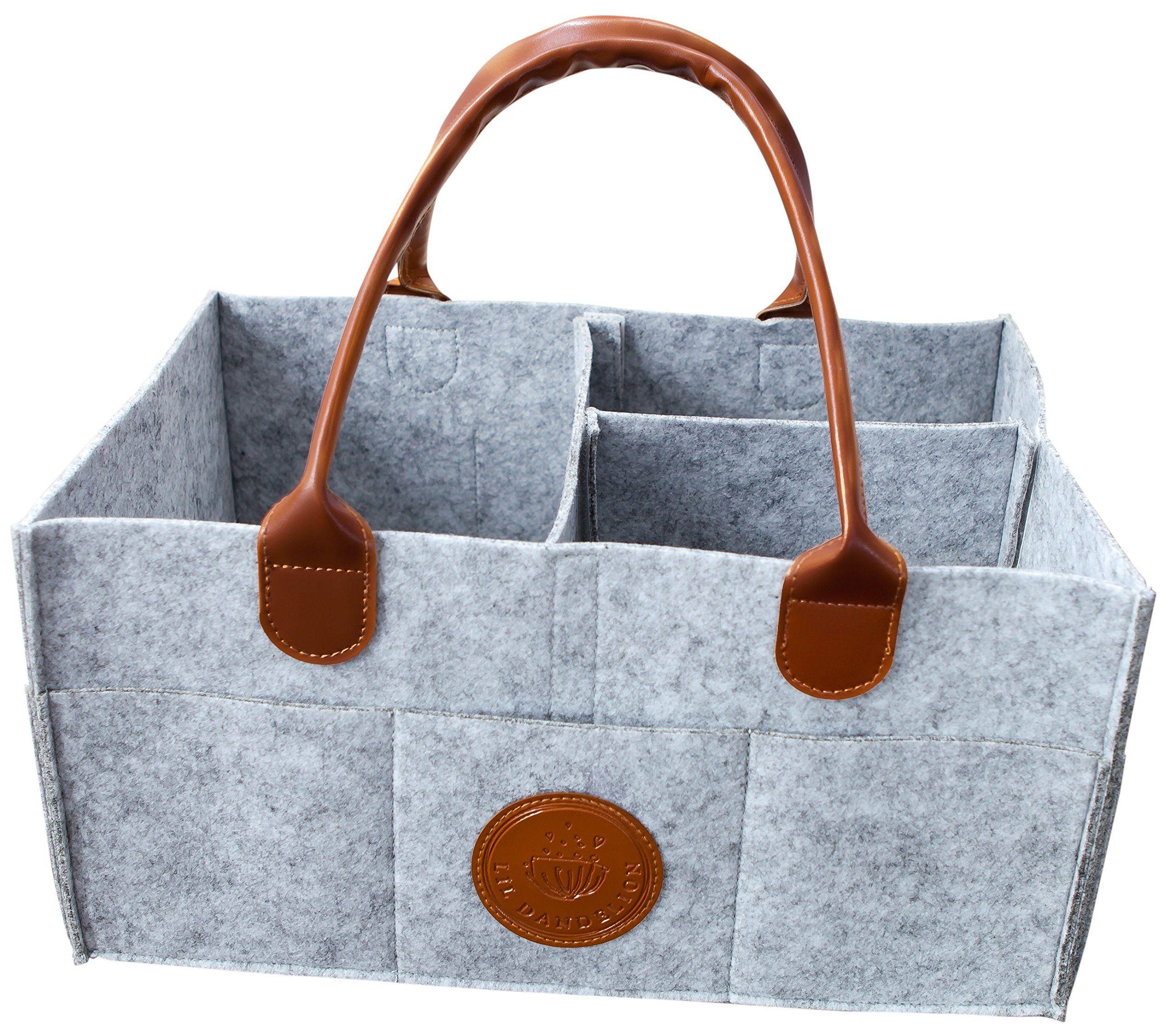 Diaper Caddy   Portable Baby Storage Basket   Car Travel Organizer ...