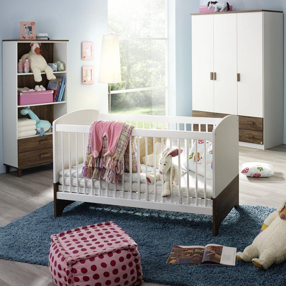 Babyzimmer Susann Babybett Alpinweiß   Eiche Sterling  Rauch Möbel    Günstig Online Kaufen