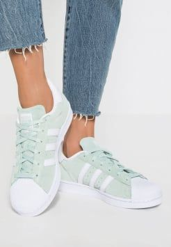 adidas Originals - SUPERSTAR - Sneakers laag - ice mint/white