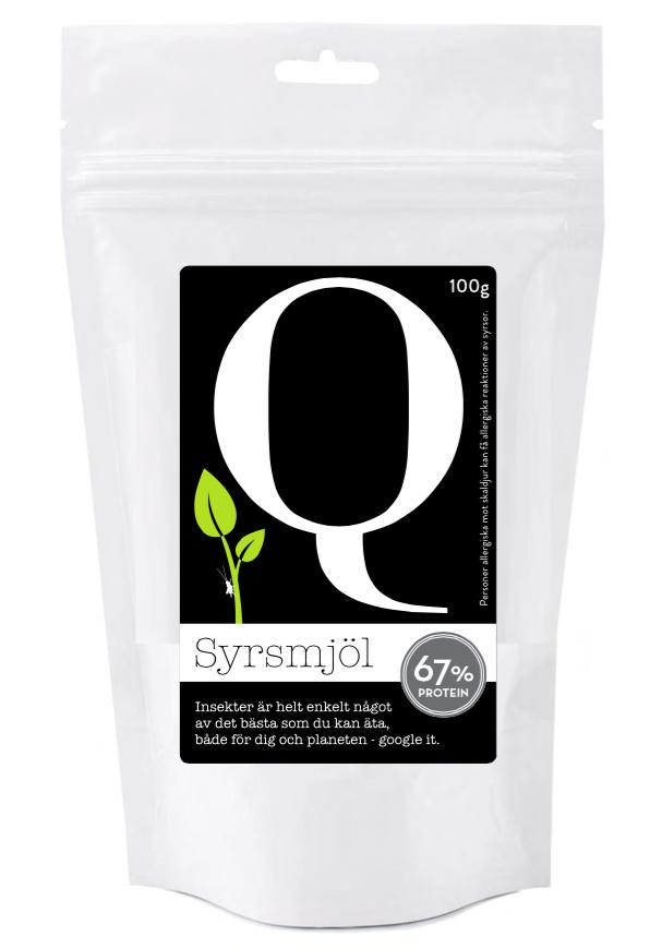 Syrsmjöl 100 gram by Qvicket Syrsor Enkelt Insekter