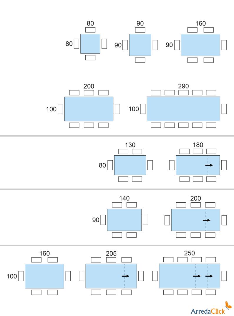 Tavolo da pranzo moderno armando arredaclick tavoli - Dimensioni tavolo ...