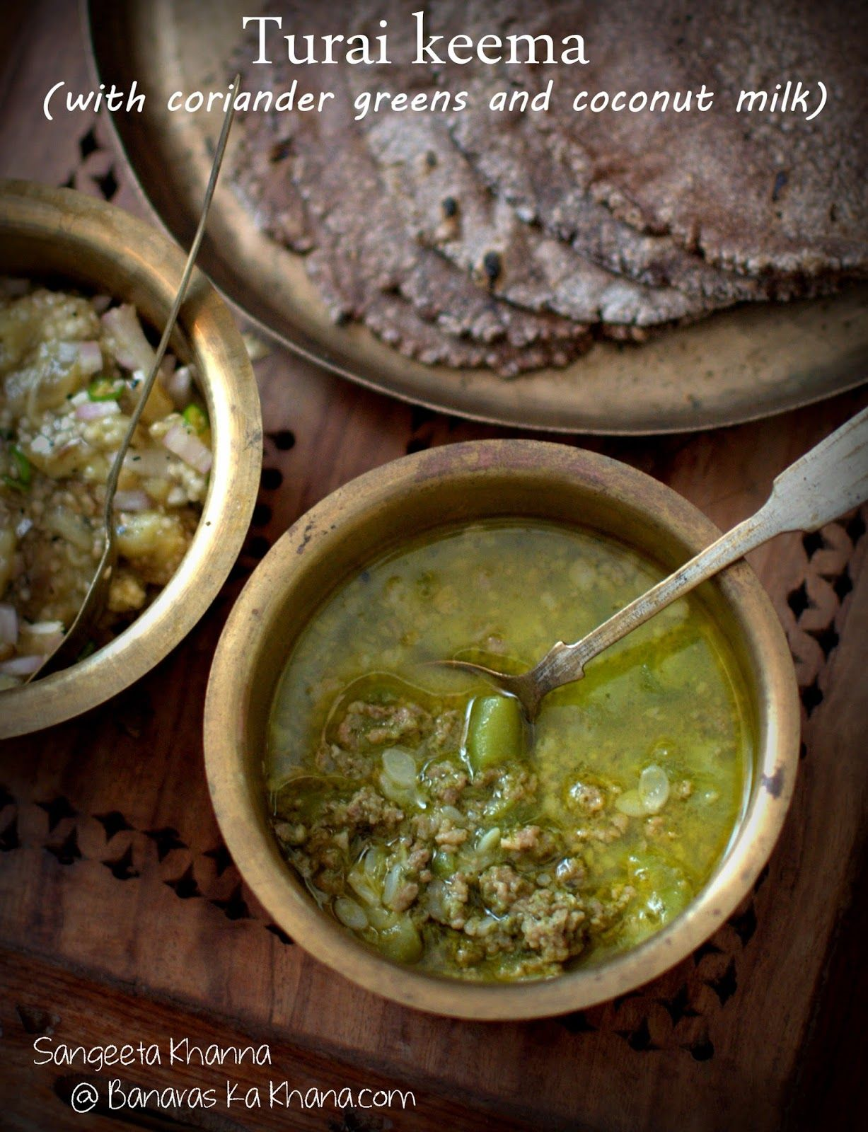 Banaras ka khana turai keema divine indian food pinterest banaras ka khana turai keema recipe with coriander greens and coconut milk forumfinder Choice Image