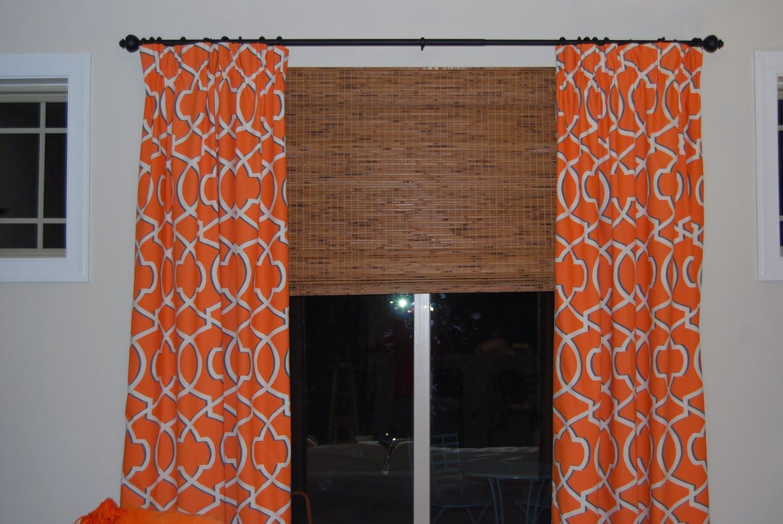 Home Chic Raleigh Orange Curtains Patterned Curtains Geometric