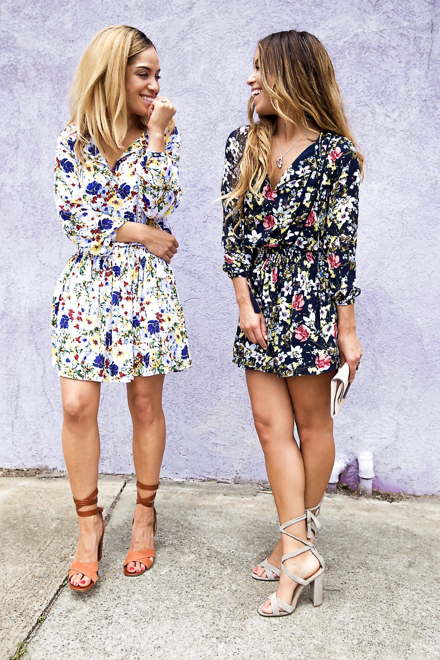 f5139247824 Add a burst of floral to your look with our long sleeve mini dress ...
