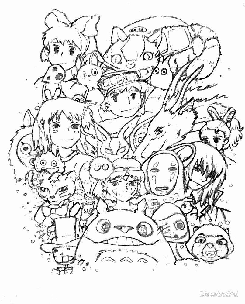 Studio Ghibli Coloring Book Unique Studio Ghibli Collage By Disturbedxui Coloring Books Studio Ghibli Studio Ghibli Art