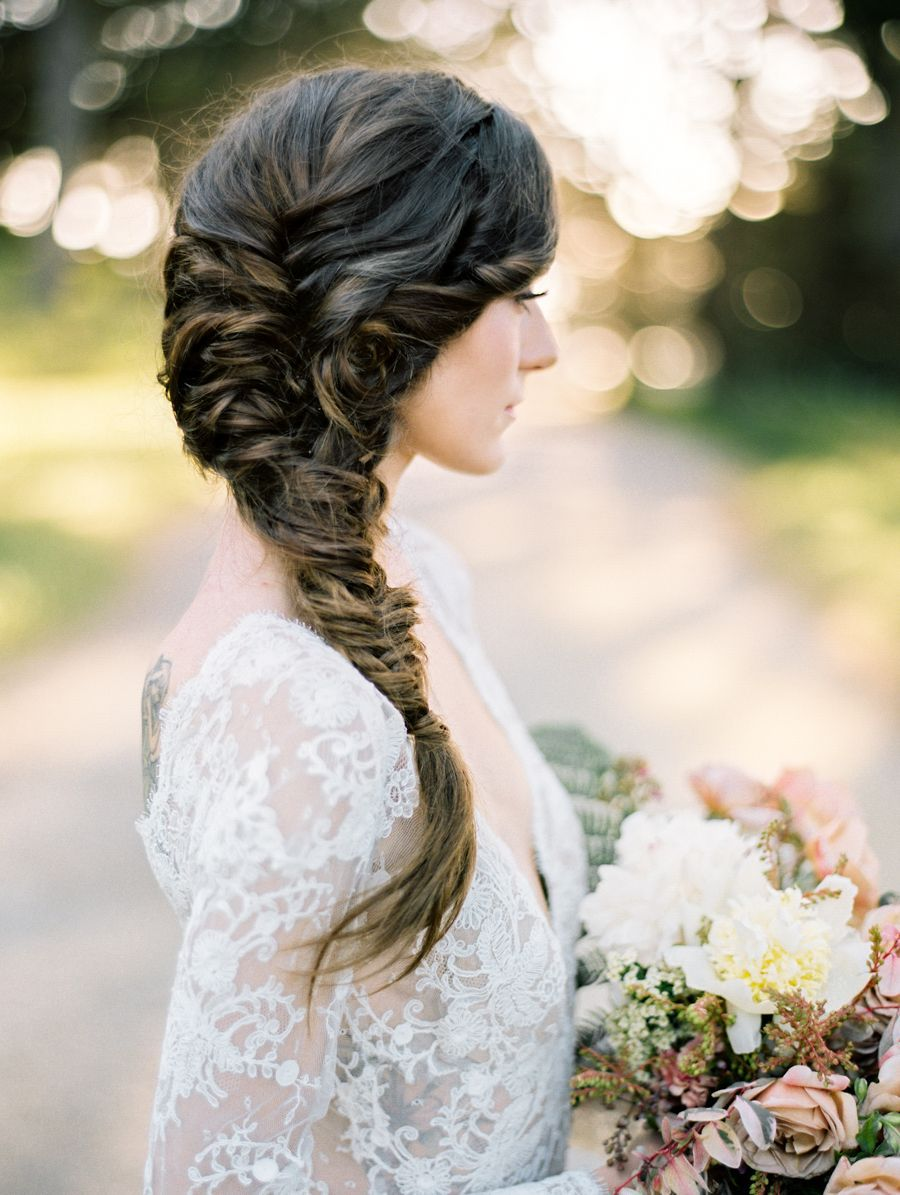 Fishtail wedding hairstyle photography jasmine lee best wedding