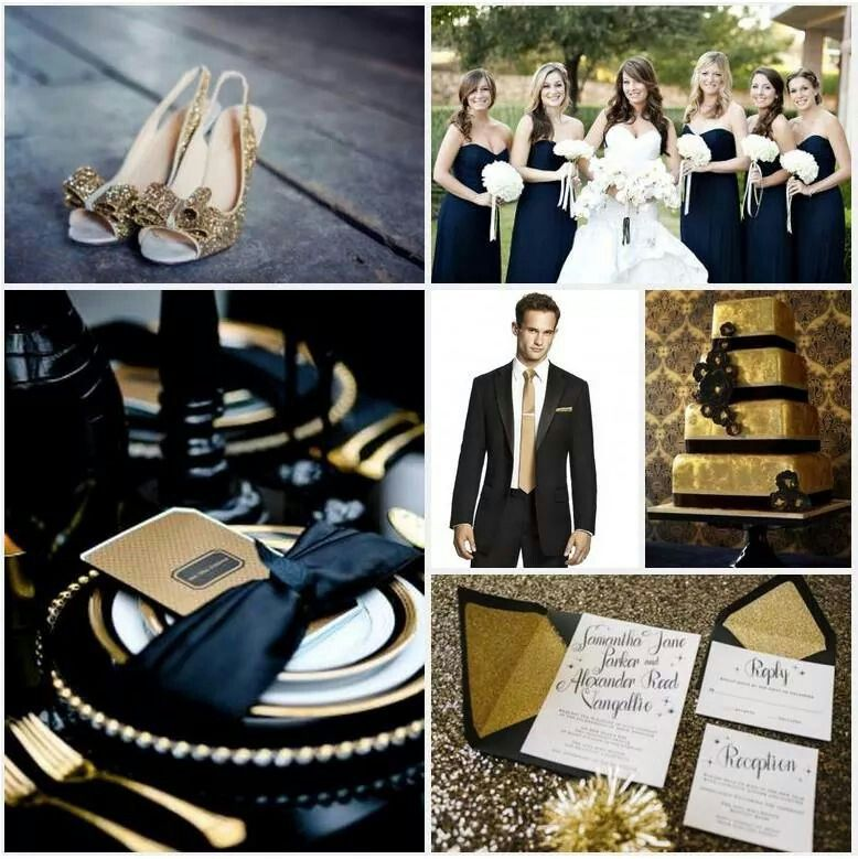 Navy & gold