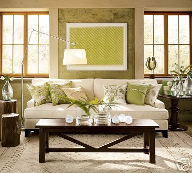 Living Room Colors Cream Couch wonderful green accents and art | living rooms | pinterest