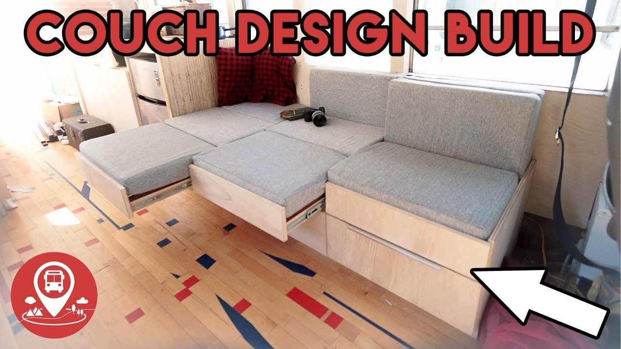 Progress 17 School Bus Conversion Couch Bed Design Build