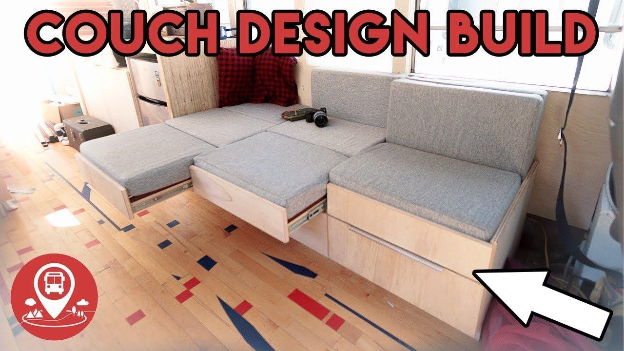 Progress 17 School Bus Conversion Couch Bed Design