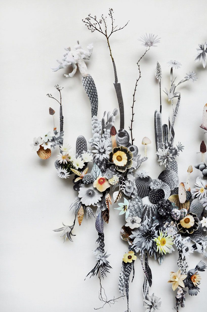 Paper Cut And Pressed Flower Constructions By Anne Pretty Things