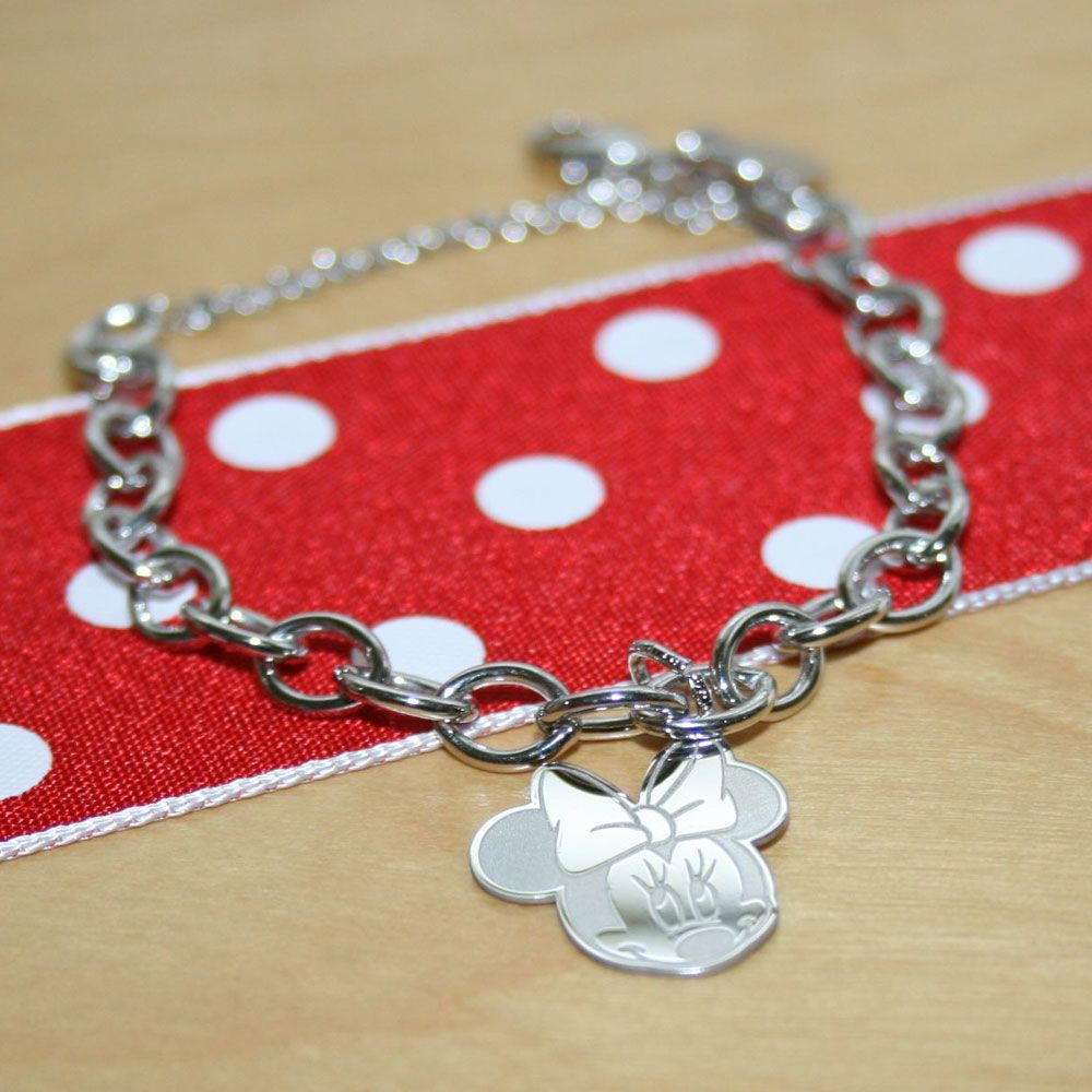 Beautiful Beadifulbaby Disney Minnie Mouse Charm Bracelet For S Free Engraved Included
