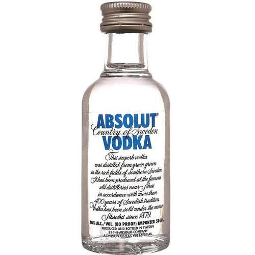 Absolut Miniaturas Vodka By CR Wines