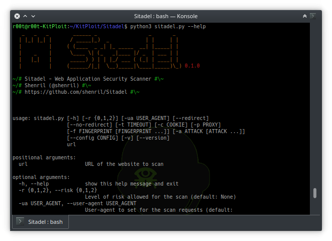 Sitadel Web Application Security Scanner in 2019 Web