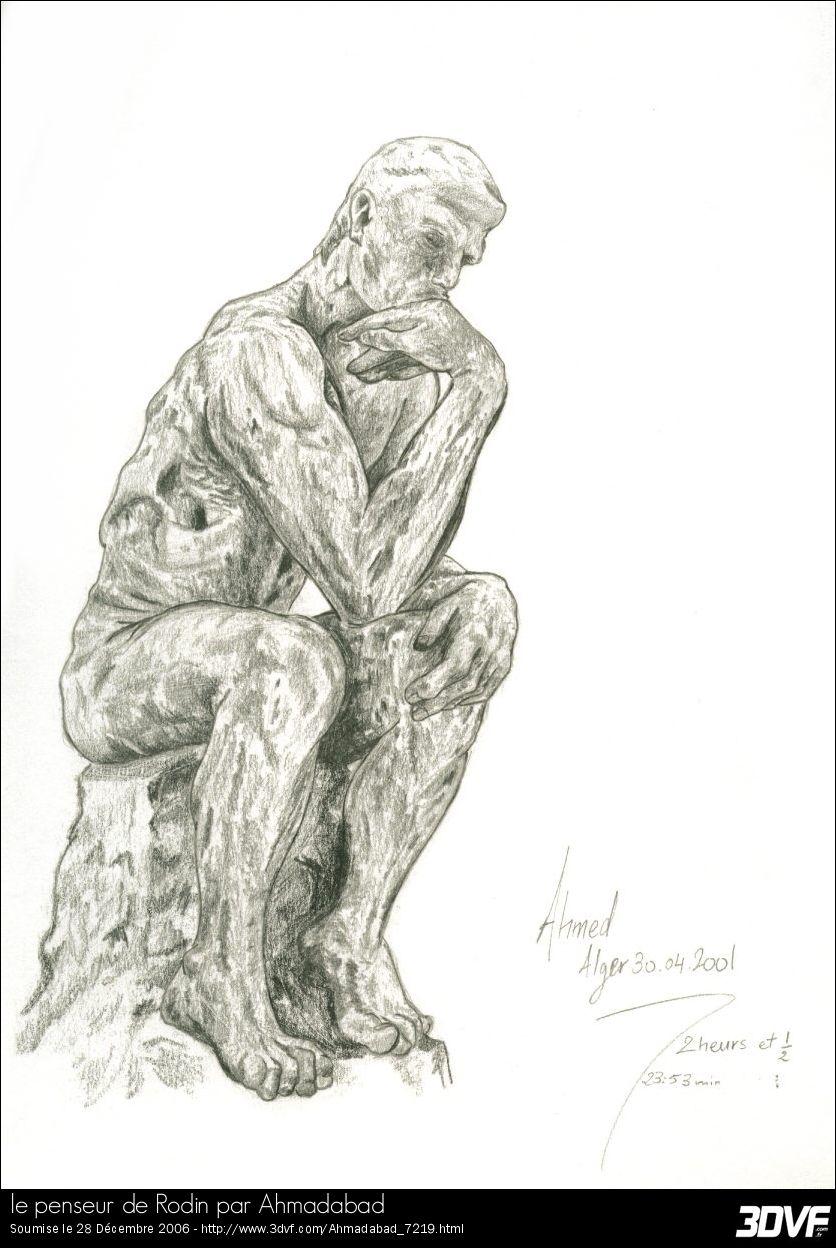 Le Penseur De Rodin Dessin : penseur, rodin, dessin, Penseur, Rodin, Ahmadabad, Sculpture,, Sculpture