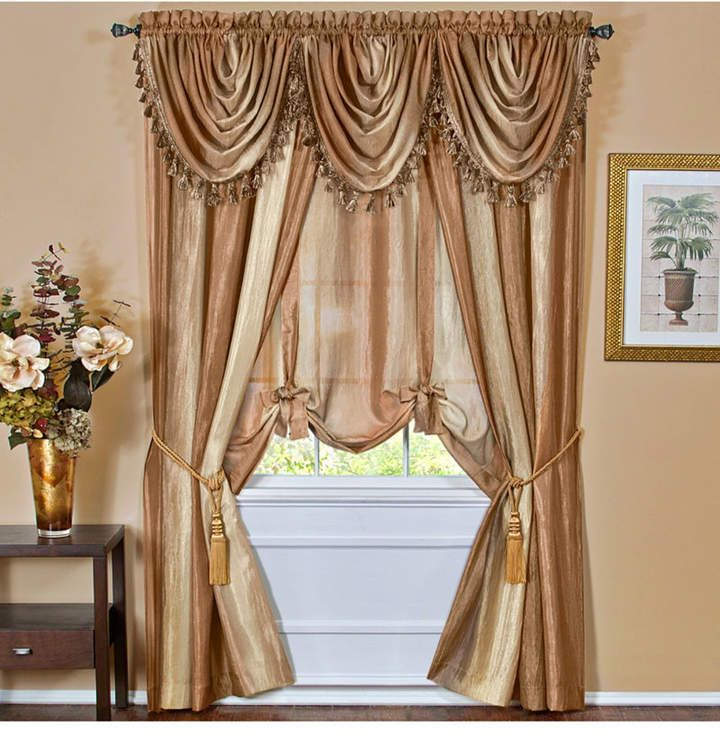Ombre Waterfall Valance In 2019 Window Treatments Waterfall Valance Tie Up Shades Curtains