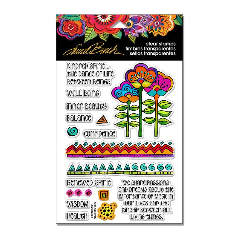 Laurel Burch Kindred Borders Perfectly Clear Stamps Set