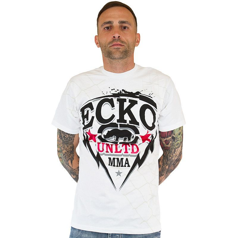 T-Shirt Ecko MMA Free bleach white ★★★★★