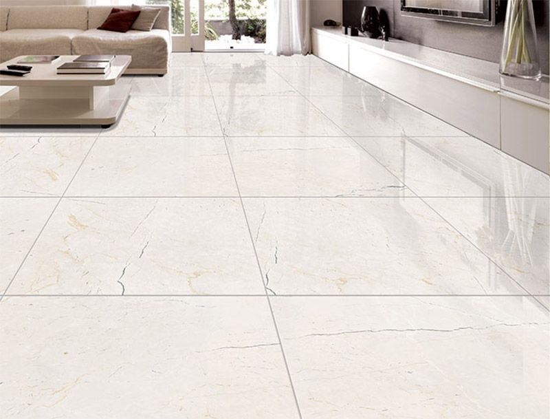 Our glossy beige Moonstone tiles make a great addition to