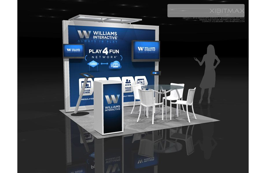 Trade Show Booth Objectives : Williams interactive trade show booth rental