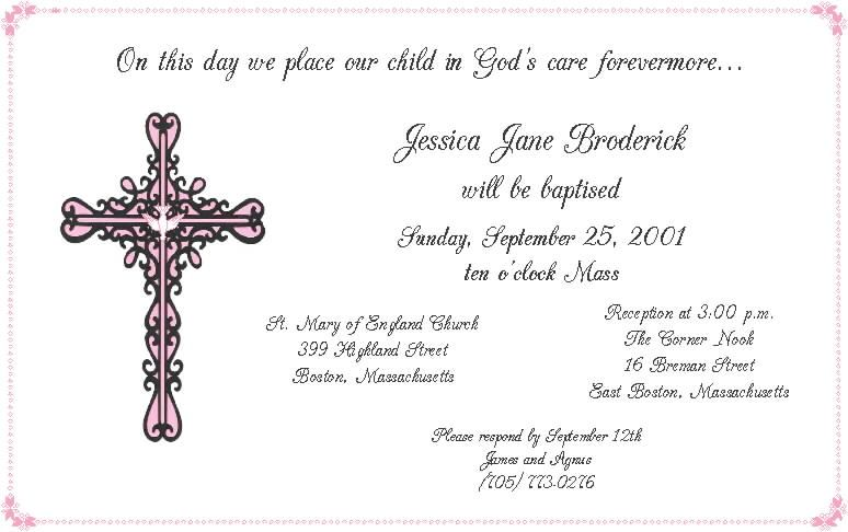 christening invitation sample yahoo image search results simple