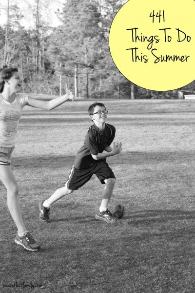 round up of ideas for kids and summer, totaling 441 things to do, by @wearethatfamily