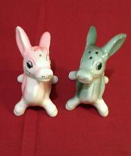 Vintage Donkey Salt and Pepper Shakers