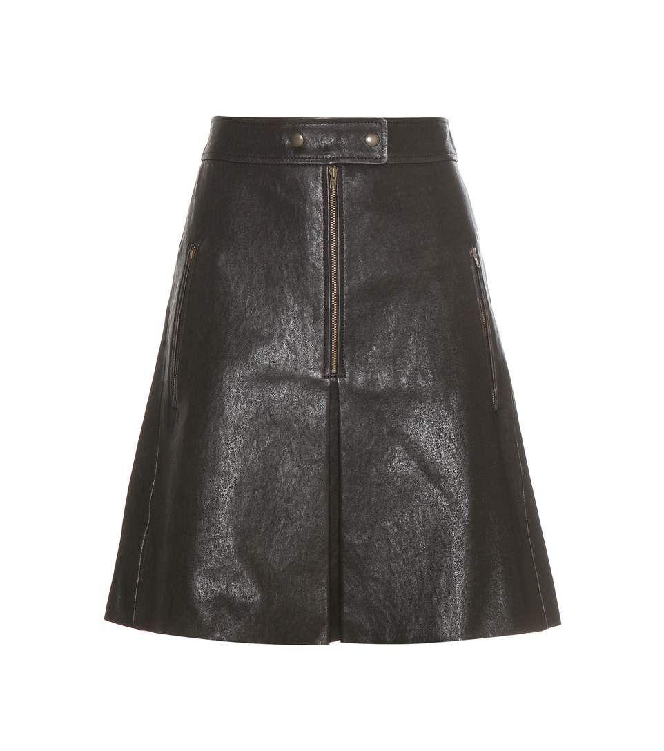 Jilly black leather skirt