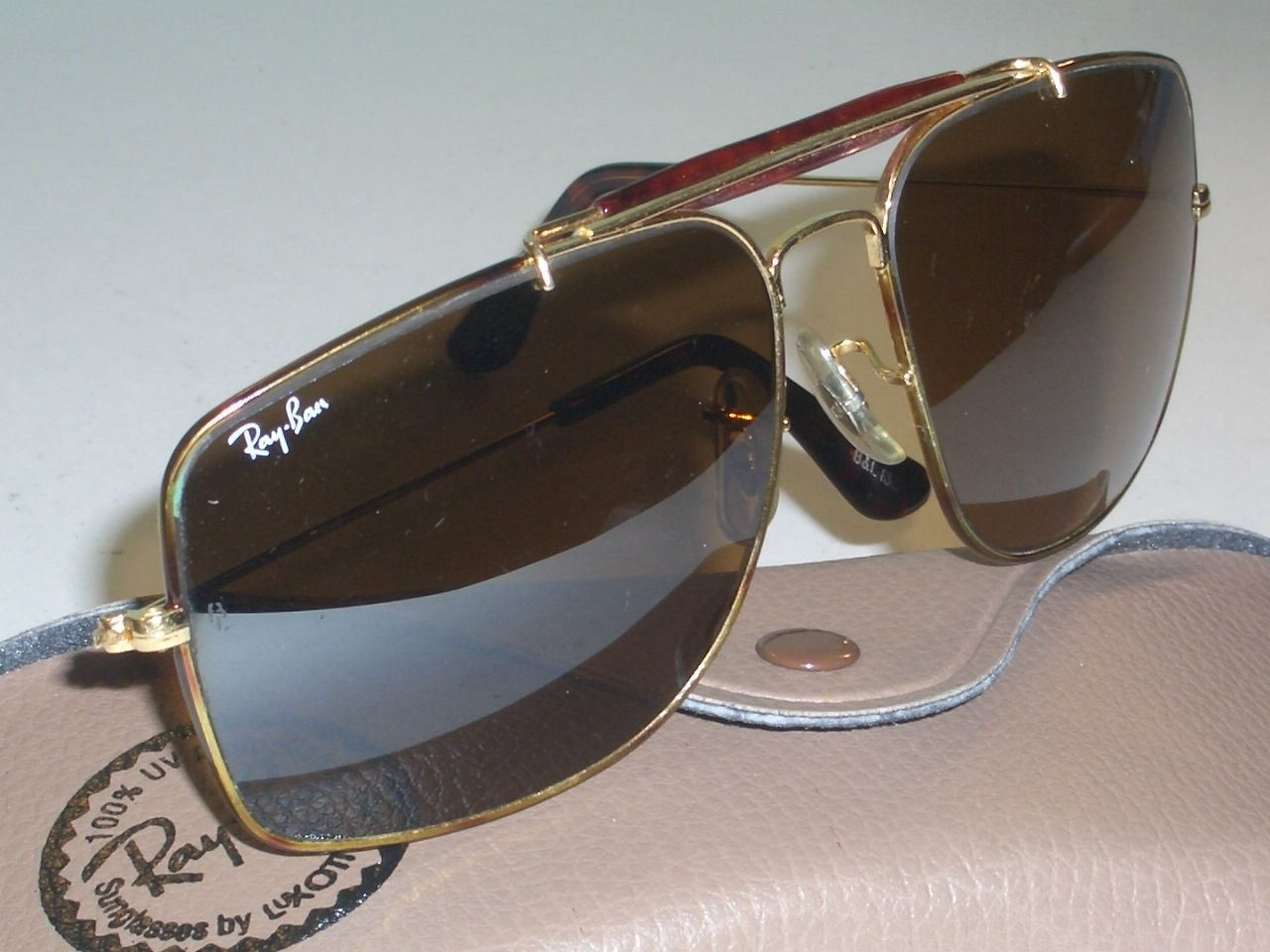 638bf369c7 VINTAGE B RAY BAN TORTUGA B15 TOP GRADIENT MIRROR EXPLORER AVIATOR  SUNGLASSES