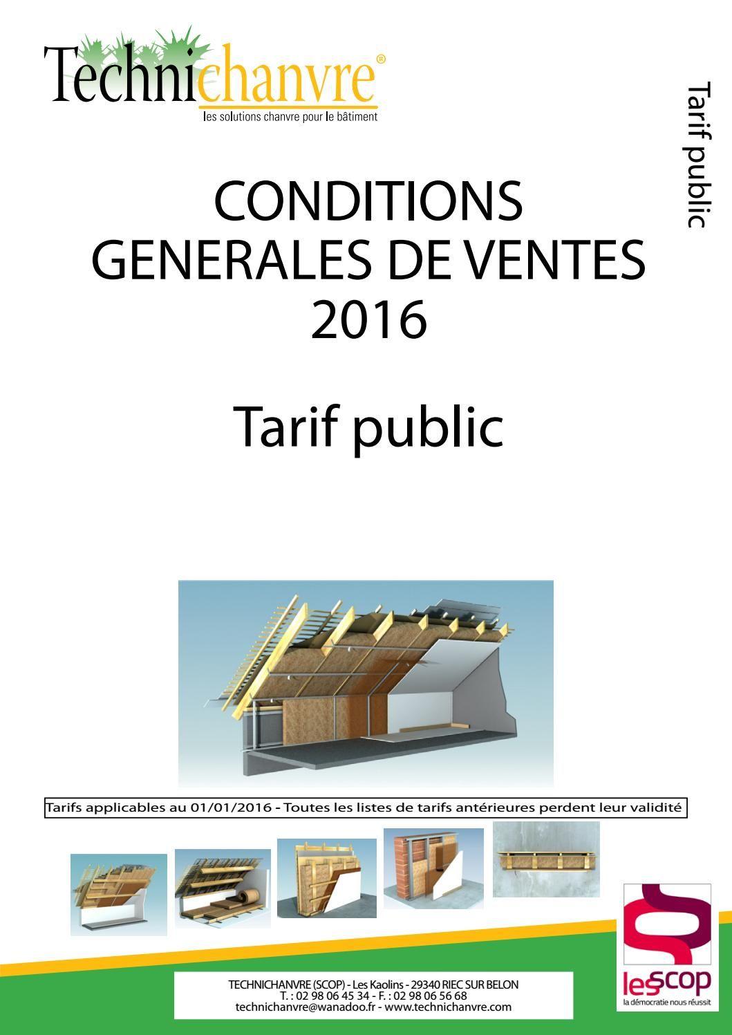 Tarifs public 2016 - particular pricelist 2016