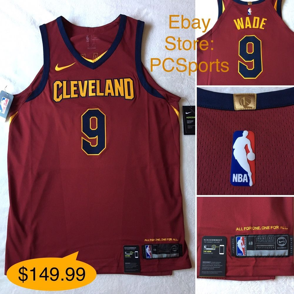3def58b9234 Men's Nike Cleveland Cavaliers Authentic Dwyane Wade Jersey Icon Edition L  & XL | eBay