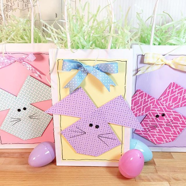 Faux quilted easter bunny gift bags with annbutlerdesigns faux quilted easter bunny gift bags with annbutlerdesigns background basics stamps and crafters ink negle Images