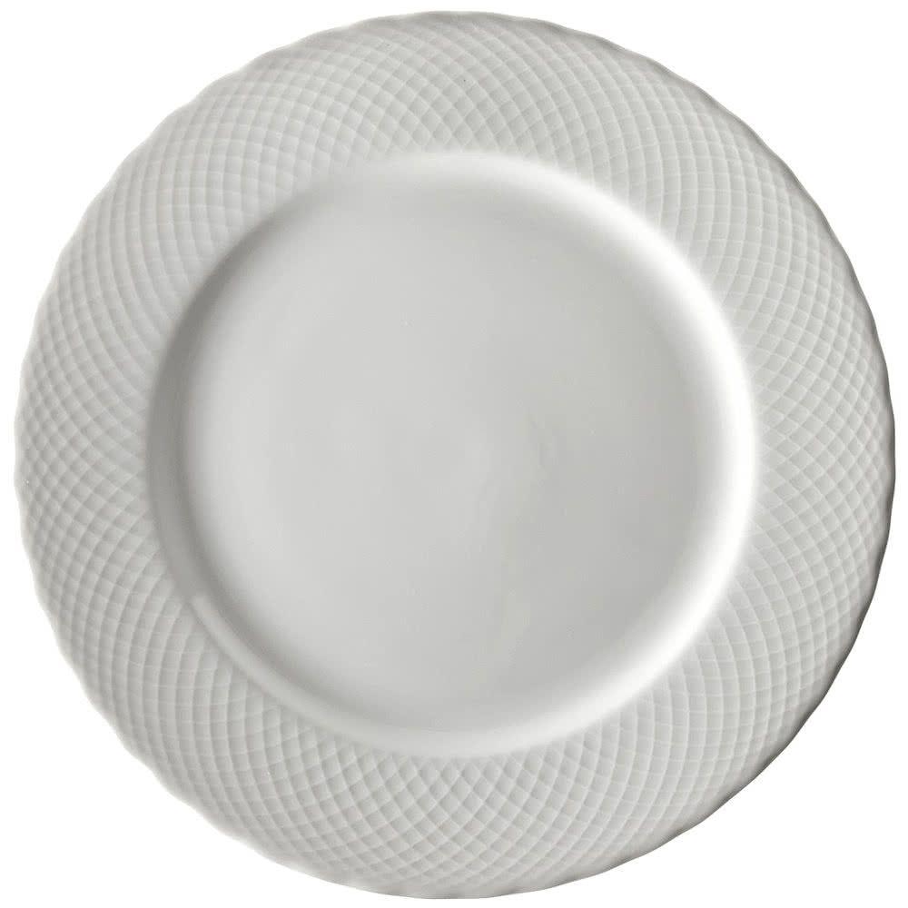 10 Strawberry Street Ww0001 White Wicker 10 3 8 Porcelain Dinner Plate 24 Case White Wicker 10 Strawberry Street Dinner Plates