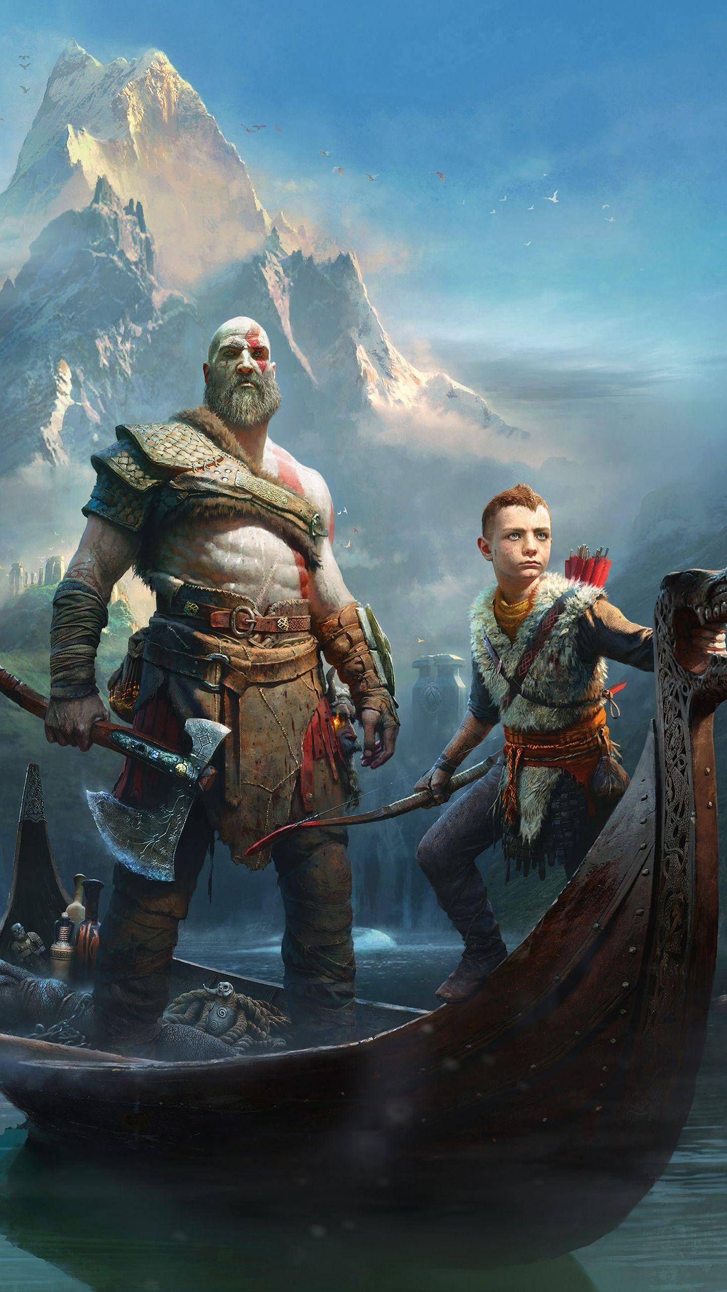 Kratos And Atreus God Of War 4 Cover God Of War Kratos God Of War War