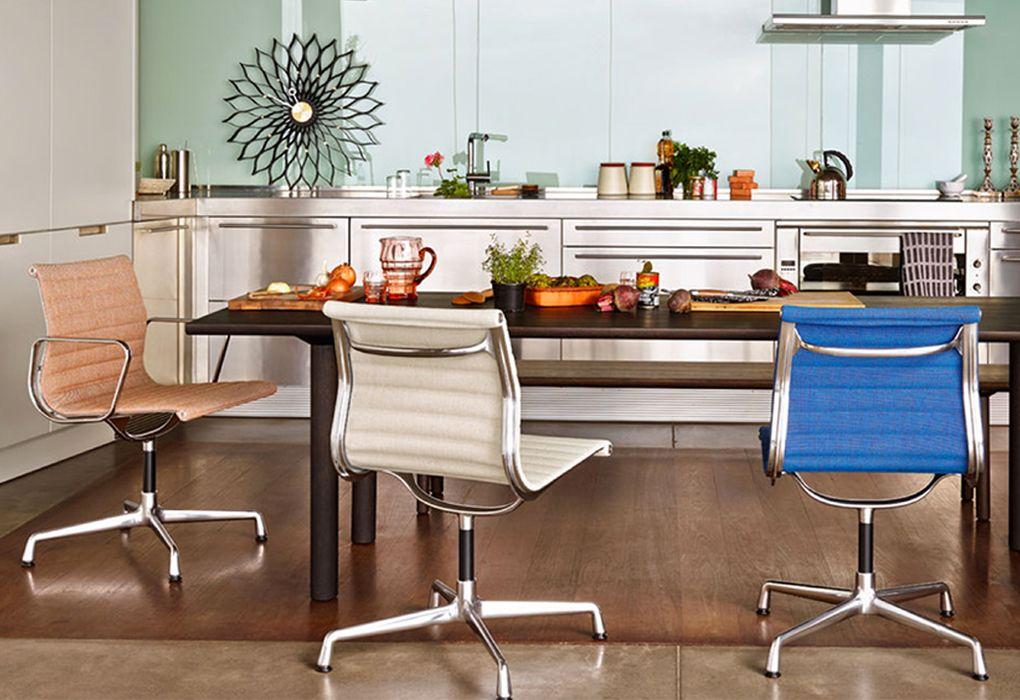 Charles Eames Vitra Bureaustoel.Vitra Bureaustoel Aluminium Chair Ea 117 Stof Door Charles Ray
