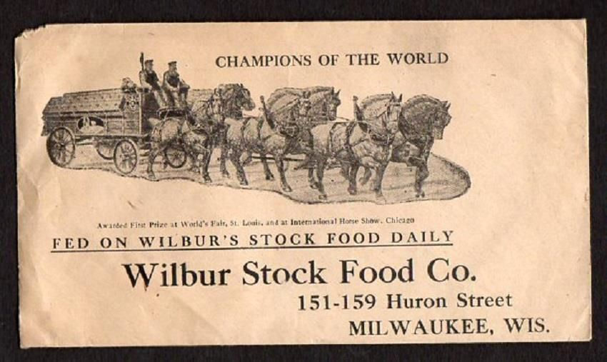 VINTAGE EARLY WILBUR STOCK FOOD CO*MILWAUKEE WISCONSIN*COVER*GREAT GRAPHICS