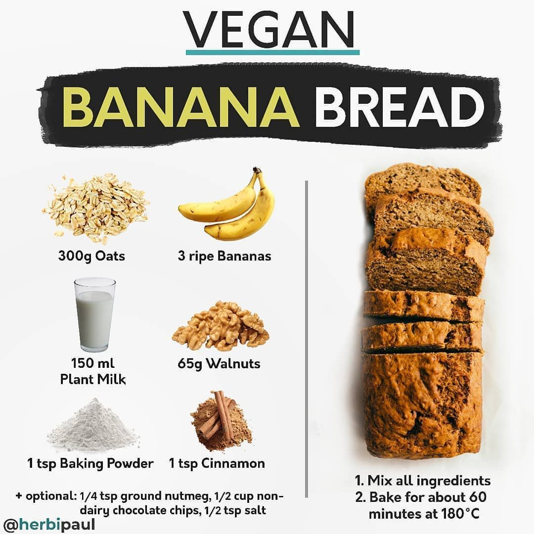Vegan Tipster Nutrition On Instagram Vegan Banana Bread Follow Share Vegantipster For More Daily Video In 2020 Healthy Baking Vegan Banana Bread Food Recipies