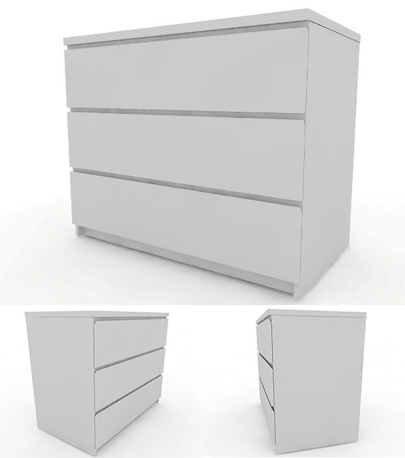 IKEA Malm – Chest of Drawers (Furniture)