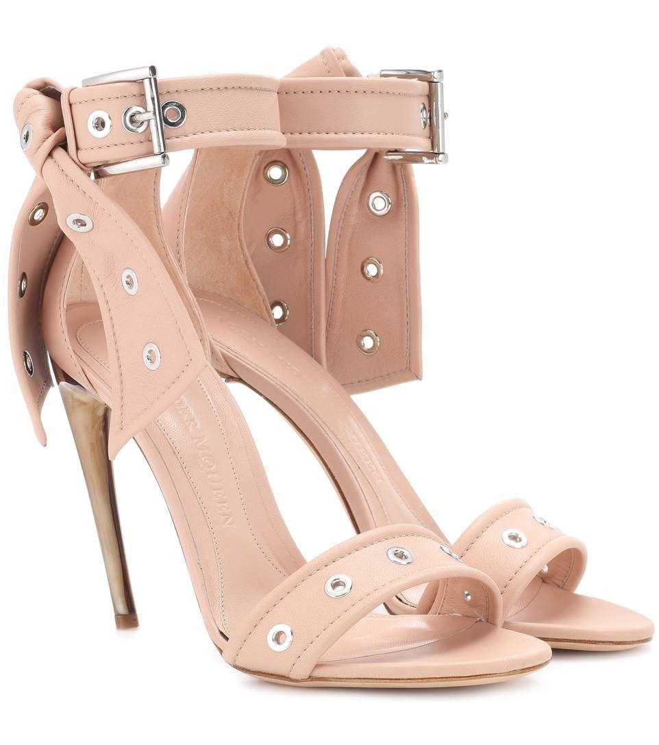 c83ef93261d ALEXANDER MCQUEEN Studded leather sandals ...