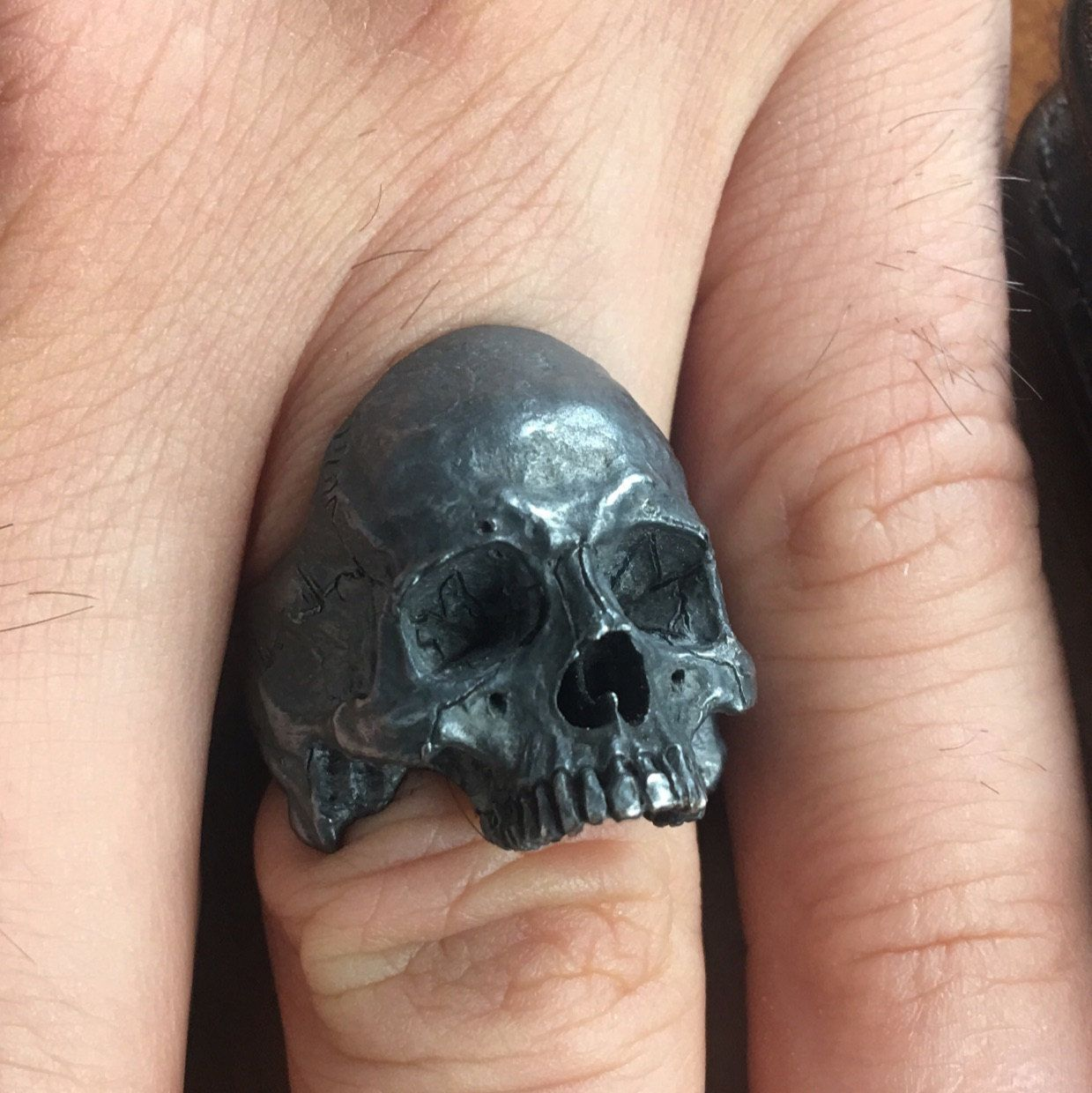 Into The Fire Jewelry - Skull ring Mid size open jaw ...
