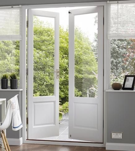 Hemlock 310 e202p supplied unglazed suitable for single for Double open french doors